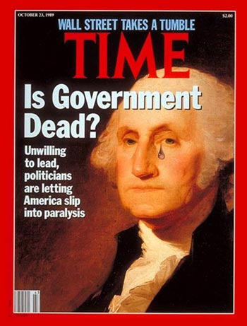 Time Cover Story (Oct. 23, 1989): The Can't Do Government