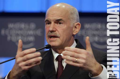 Greek Prime Minister Papandreou spoke on Greece's economic plight at the World Economic Forum in Davos.