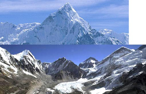 Mount Everest: The rise in global temperatures could result in the Himalayan glaciers disappearing within 30 years. UN experts say glaciers in the Himalayas could all be gone by 2035.