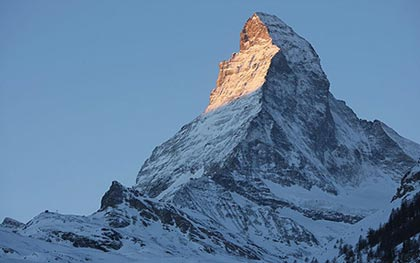 the zone affected includes the Matterhorn mountain
