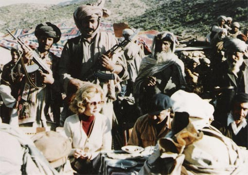 Joanne Herring in Afghanistan with the mujahideen