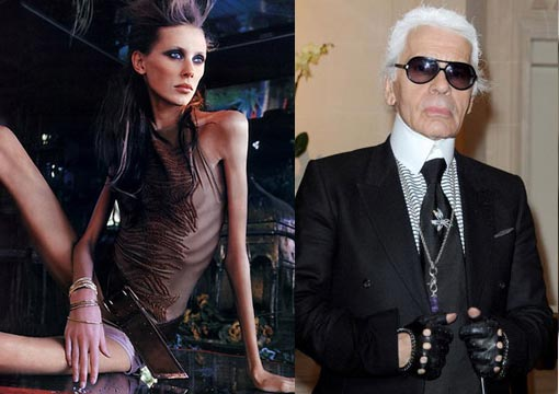 Karl Lagerfeld defends the waifs who march down his runways - 'No One Wants to See Round Women'