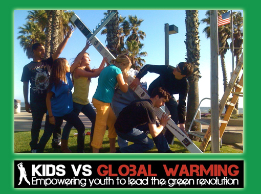 Kids vs Global Warming is a non profit organization founded and led by Alec Loorz, who is now 16 years old.