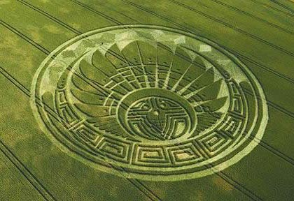 Ancient Mayan Crop Circle Symbol - Said to be sign of impending 'Apocalypse' - Silbury Hill, Whiltshire