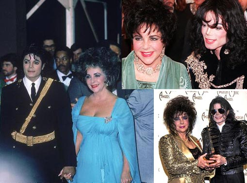 Singer Michael Jackson and actress Elizabeth Taylor