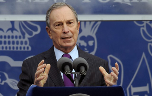 New York City Mayor Michael Bloomberg at his Jan.1 inauguration