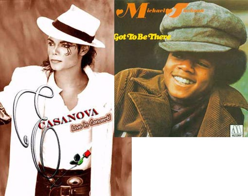 Left: Michael Jackson as Casanova; Right: Cover to Michael Jackson's 1971's - Got to Be There