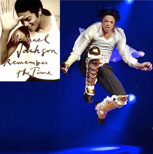 Michael Jackson - the King of Pop; inset - Remember the Time