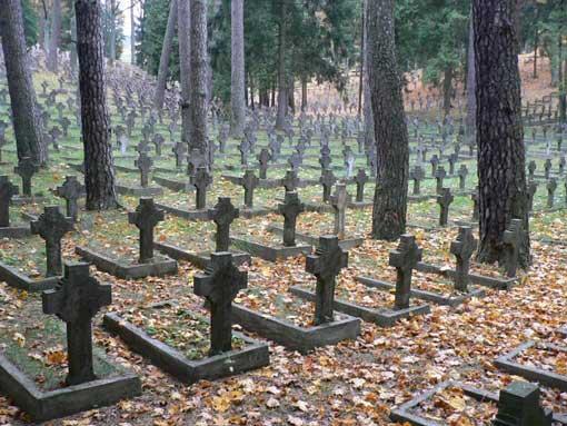 the Antakalnis cemetery in Vilnius