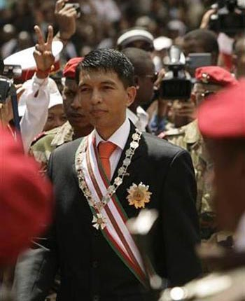 Madagascar's army-backed Andry Rajoelina is installed as the country's new president in Antananarivo March 21, 2009
