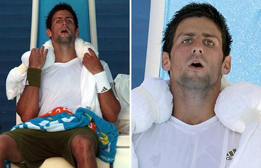 Novak Djokovic pulls out of Australia Open quarter-final with Andy Roddick due to heatwave
