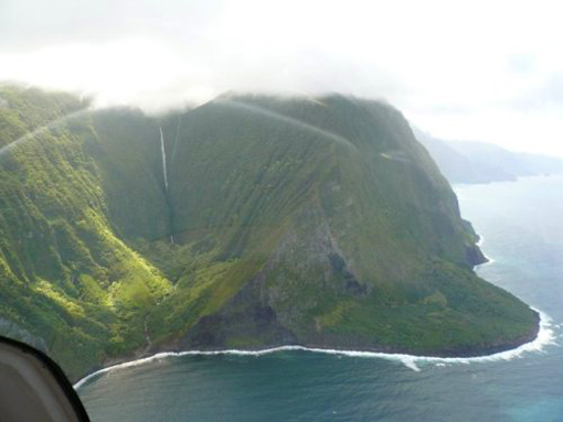 Olo'upena Falls is the 4th largest waterfall in the world