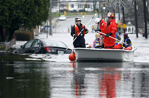 The Pawtuxet River Floods in West Warwick, R.I