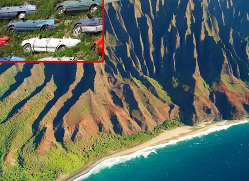 Photo: Na Pali Coastline of Kauai; inset: National Geographic Human Footprint took at look and the numbers are staggering