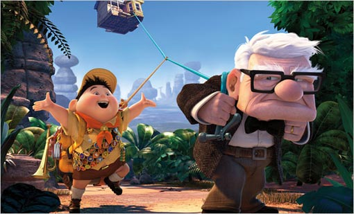 The characters Russell and Carl in Pixar's latest film 'Up.'