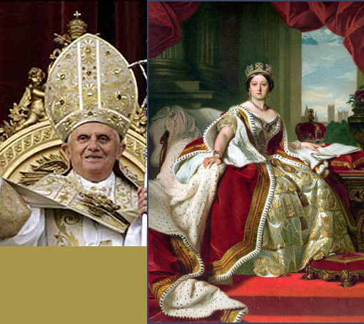 Left: Pope Benedict XVI (born Joseph Aloisius Ratzinger on 16 April 1927) is the 265th and current Pope. Right: One of the most memorable and endearing of English monarchs, Queen Victoria was born on 24th May 1819, at Kensington Palace, London.