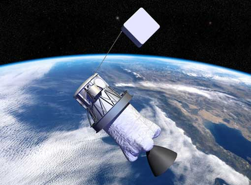 attaching tail to satellites to collect them when they outlive their purpose