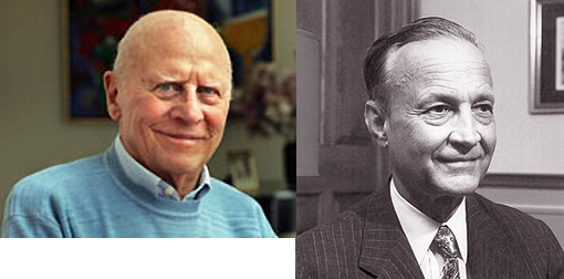Left: Richard Goldman, recipient of Heinz Awards Chairman's Medal. Right: Billionaire philanthropist Sir John Templeton.