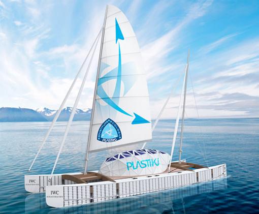 Plastiki 20x60ft Boat From 12 500 Plastic Bottles Sails