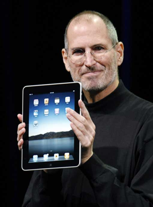Steve Jobs launches iPad on 2010