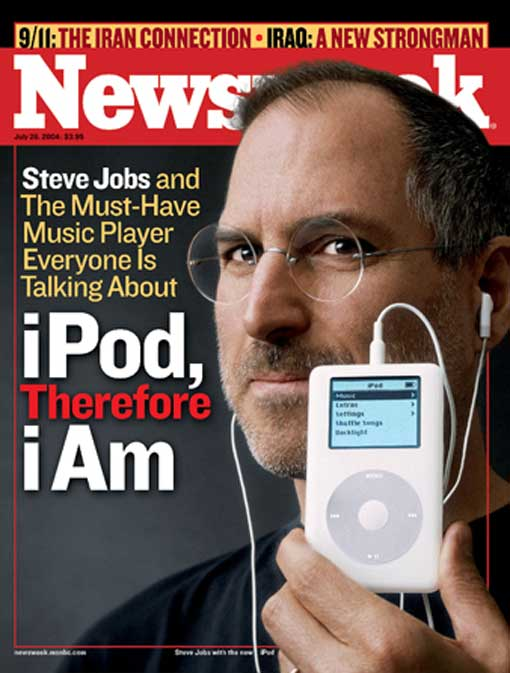 Steve Jobs launches iPod in 2004