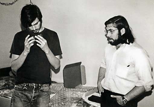 Steve Jobs and Steve Wozniak in 1976