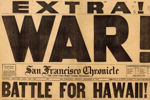 The attack on Pearl Harbor was front-page news the next day, and some newspapers even managed to put out special issues the same day of the attack.