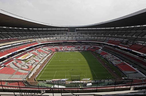 the Aztec Stadium in Mexico sits empty due to the swine flu outbreak