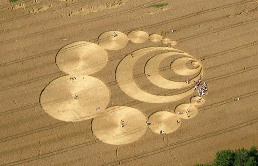 a crop circle in Switzerland