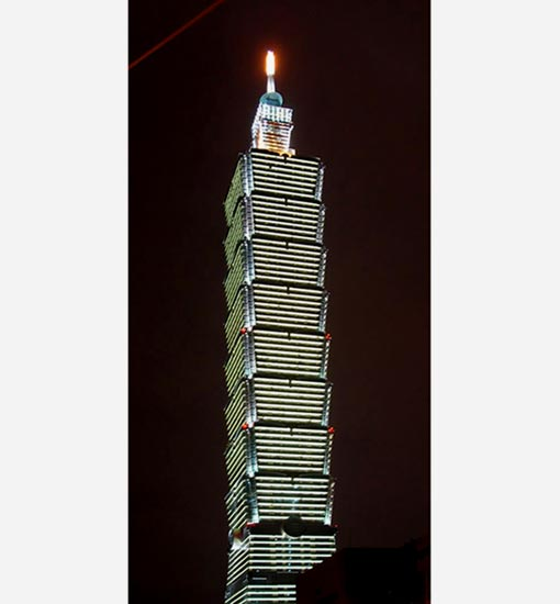 Taipei 101 - Taiwan, finished in 2003 (1,670 ft - 509.2 m)