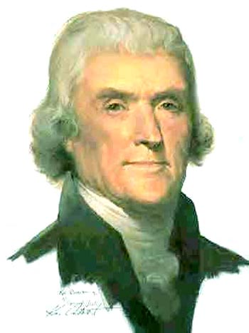 Thomas Jefferson, author of the Declaration of Independence and the Statute of Virginia for Religious Freedom, 3rd president of the United States, and founder of the University of Virginia