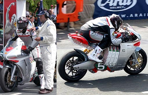 The MotoCzysz E1pc surprised everyone at the TT. It was the most integrated electric motorcycle in the paddock, with more torque and power than any other bike and the chassis was up to the challenge. It was the only motorcycle with hot swap batteries and should have been challenging for the win.