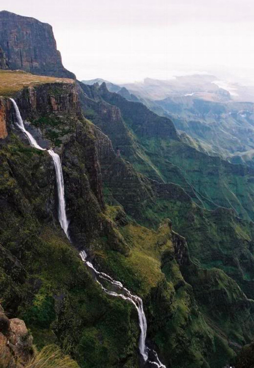 Tugela Falls in South Africa is the second waterfall in the world