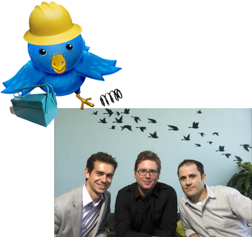 Twitter co-founders Jack Dorsey, Evan Williams, Biz Stone