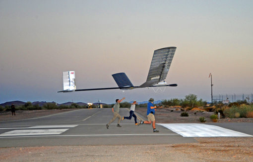 the Zephyr solar-powered plane recently broke the endurance record for an unmanned aerial vehicle (UAV)