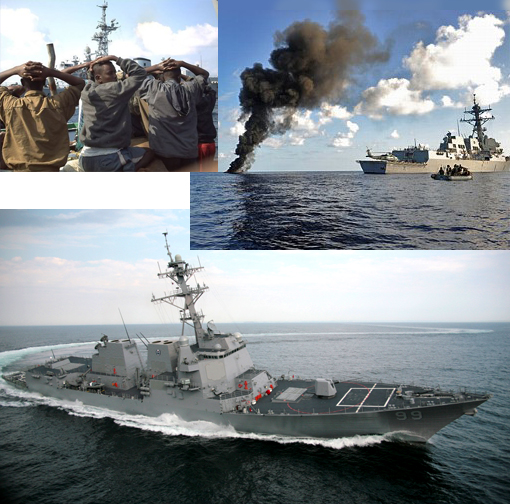 USS Farragut sinks pirate mother ship, captures then releases pirates