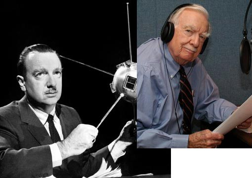 Walter Cronkite, former anchor of 'The Evening News' who told us about JFK's assassination, and Vietnam, and the moon landing, and earlier generations about the battle over Civil rights, and before that, the Battle of the Bulge
