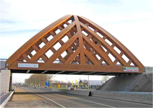 world's first heavy traffic road bridge made from Accoya wood