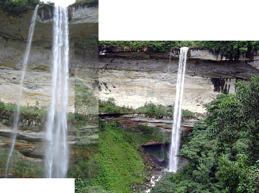 one of world's tallest waterfalls, in Peru
