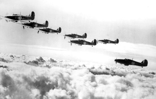 RAF fighter planes WWII