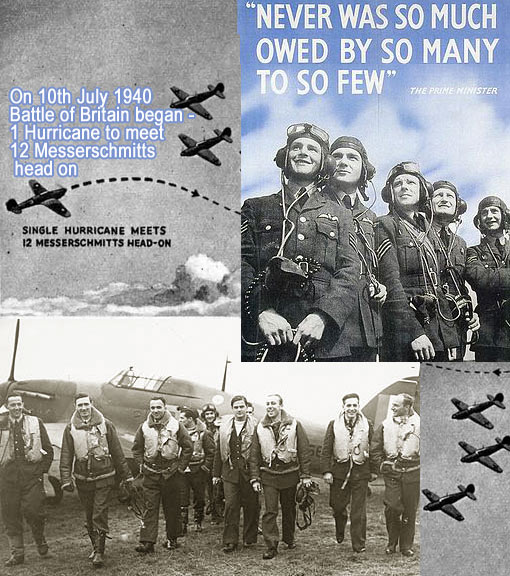 'Never in the field of human conflict was so much owed by so many to so few' - Winston Churchill on 20 August 1940