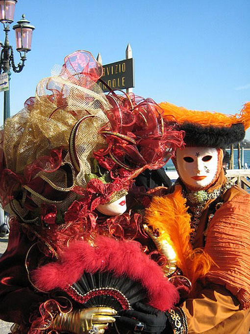festive season in February, celebration of life, Masquerade ball at the Carnival of Venice
