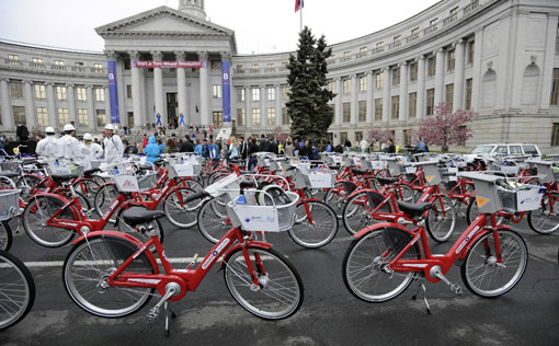 bike sharing system in Denver - B-Cycle System
