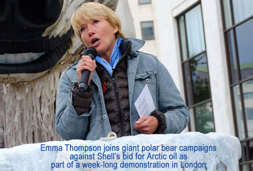 Emma Thompson for saving the Arctic from Shell's oil drilling