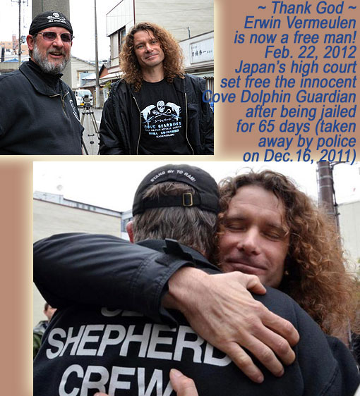 Supporter of Sea Shepherd, Dutch photographer Erwin Vermeulen in Taiji, Japan