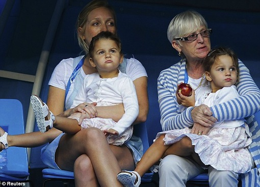 The next Williams sisters? The Federer girls looked so into the game, perhaps there is a future in tennis in store