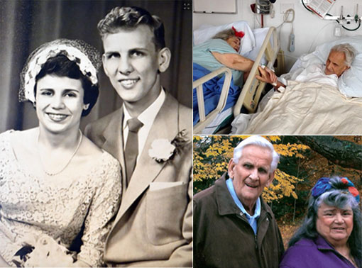 elderly couple die hours apart holding hands after 60-year vow that he'd never leave her