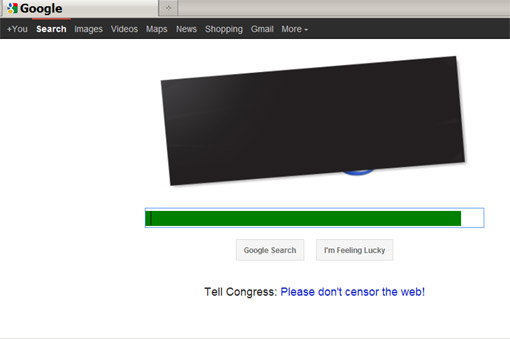 Google opposes SOPA and PIPA: 'Please don't censor the web!'