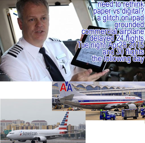 American Airlines planes were grounded due to a ipad glitch