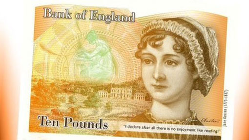 Jane Austen to be face of the Bank of England 10-pound note